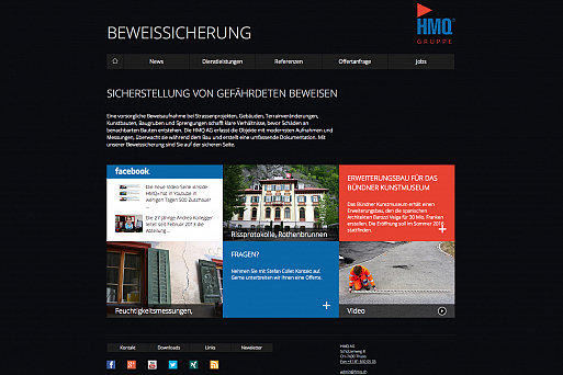 beweissicherungen, Website Screenshot